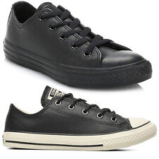 Converse Chuck Taylor All Star Ox Leather Girls Boys Kids Trainers Shoes Sizes