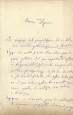 Lettera Autografo Vito La Mantia Palermo Giurista Storico Italiano Palermo 1889