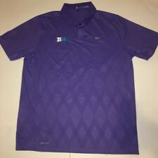 Big 10 Football Dri-fit Tiger Woods Collection Nike Golf Shirt Large Purple @b