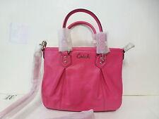 NWT Coach Ashley Leather Convertible Mini Tote Bag - Fuchsia 20342 MSRP $298