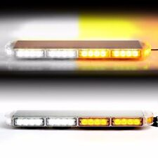 "Amber White 22"" LED Emergency Warning Hazard Security Strobe Light Bar Off Road"