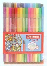 Stabilo Pen 68 Fibre-Tip Pen Set 30 Colors M-Tip 1mm 6830-1