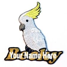 Cockatoo Custom Iron-on Patch With Name Personalized Free