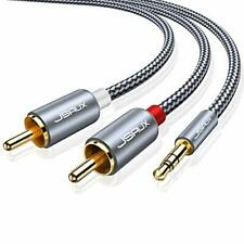 New listing Shielded Gold-Plated 3.5mm Male to Male Stereo Audio Adapter Coaxial Cable Nyl