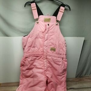 Schmidt Workwear Youth Girls Size XL Regular Pink Insulated Bib Overalls