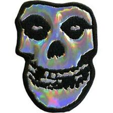 OFFICIAL LICENSED - MISFITS - SKULL IRIDESCENT IRON / SEW-ON PATCH ROCK PUNK