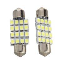 2 KFZ Lampe Soffitte Innen 36mm 16 SMD LED Weiss Sofitte V5O1