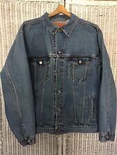 Men's Levi Strauss & Co Denim Blue Jean Jacket Standard Trucker Large