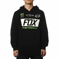 NEW! FOX RACING Monster Energy Paddock MENS SWEATSHIRT MX HOODIE PULLOVER BLACK