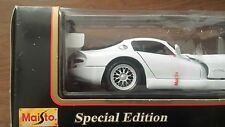DODGE VIPER  GTSR WHITE 1:18 SCALE DIECAST MODEL CAR BY MAISTO