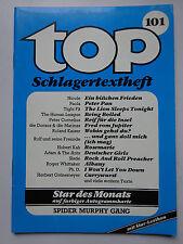 TOP Schlagertextheft Nr. 101,  Spider Murphy Gang, Roger Whittaker
