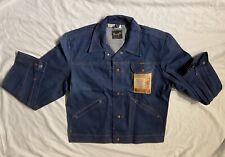Vintage Deadstock 1960s 1970s Wrangler Denim Jacket NOS Tags Mens L Cowboy Cut
