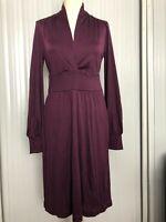 NEW Banana Republic silk-viscose jersey dress. Purple. Size Medium