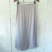 New YFB Young Fabulous Broke S Small Lavender Purple Satin Midi Skirt