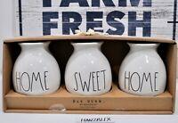 RAE DUNN HOME SWEET HOME Set of 3 Bud Vases Ceramic Large Letter NEW HTF RARE 19