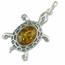 """Sterling Silver Amber 13 - 15.99"""" Fine Necklaces & Pendants"""