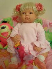 """ADORABLE BABY REVA SCHICK Lee Middleton Doll Light Skin Girl 22"""" GORGEOUS!!!"""