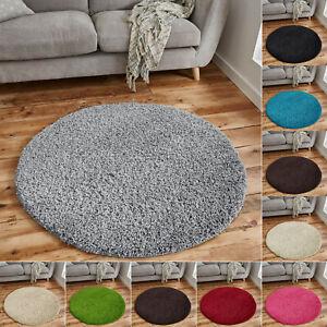 Fluffy Shaggy Rugs Living Room Bedroom Carpet Mat 120 x 120 cm Round Circle Rug