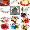 Floral Flower Garland Crown Headband Headdress Hair Band Bridal Headpiece