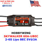 Hobbywing Skywalker 60A UBEC 2-6S ESC Electric Speed Controller for RC Airplane