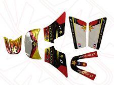 Yamaha PW50 PY50 Body Kit Plastic Sticker Graphic Set Kit - Rockstar Red Black