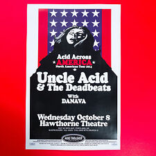 Uncle Acid & The Deadbeats 2014 Original 11x17 Concert Poster. Portland Oregon.