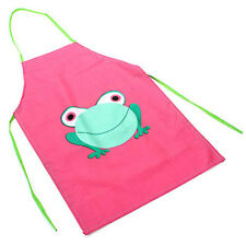 School Drink Cooking Cute Painting Kids Waterproof Apron Frog Design Children