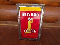 Large Hills Bros Coffee Tin Vintage 1940s Kitchen Decor Rare 20 Lb Can