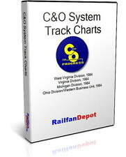 C&O System Track Chart 1984 - PDF on CD - RailfanDepot