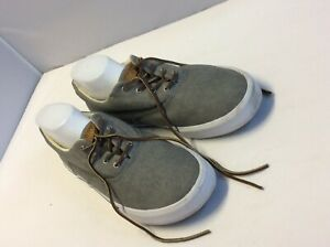 Sperry Top-Sider  Gray Canvas Lace Up Casual Men Boat Sneakers Shoes Size 13 M