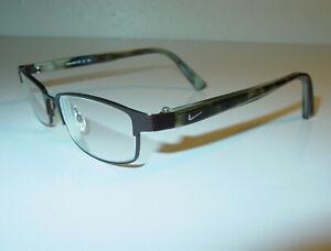 NIKE 8008 241 Green Turtoise Rectangular Rx Eyeglasses Frames 50-16 140 / A1