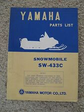 Rare Yamaha Snowmobile Parts List Manual for SW-433C