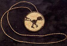 New listing Vintage Native American Artifact Woven Pendant Necklace Thunderbird Rarity Antiq