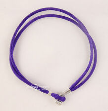 "PURPLE Authentic PANDORA Fabric CORD Single Bracelet 16cm/6.3"" Small NEW"