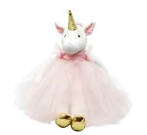 Stuffed Handmade Unicorn Plush Toy Soft Cute Ballerina Doll Animal Gift 34cm New