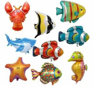 Ocean Marine Sea Big Animals Foilballon Cartoon Ballons Birthday Party Fun Fish