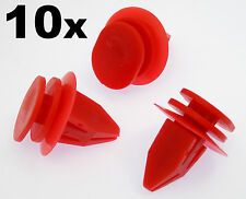 10x Mini Rojo Moldura De Plástico Clips Para sideskirts, alféizar de molduras, bodykits
