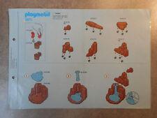 Notice originale Playmobil 3870 - La tribu indienne Campement indien
