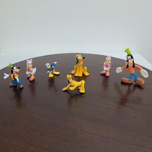Disney Action Figure Lot Goofy Pluto Daisy Donald Duck Toys Cake Topper