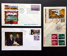 Stamp Lot Of 3, Fort Kearny NE 1948 FDC, NASA Shuttle Skylab 1978, Spain Expo 55