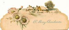 """c1890 Die Cut Embossed """"A Merry Christmas"""" card"""