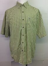 Carhartt Men's Green Plaid Button Front S/S Shirt Large Casual