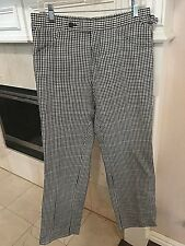 TOM FORD BLACK & WHITE PLAID WOMEN TROUSERS SZ. 48R / 10-12 US