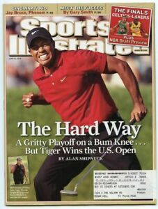 SI: Sports Illustrated June 23, 2008 The Hard Way: Tiger Woods, U.S. Open, GOOD