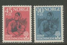 Norway 1960 World Refugee Year semipostal--Attractive Topical (B64-65) MNH