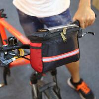 Neu FahrradTasche FrontKorb Pannier Rahmen Rohr Lenkertasche handyhalter