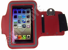 Brazaletes rojos de neopreno para teléfonos móviles y PDAs