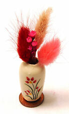 1:12 Scale Flowers In A Red Floral Vase Dolls House Miniature Flower Accessory