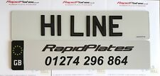 3d Hi Line Black Gel Domed Resin Raised UK Road Legal Font Number Plates Pair