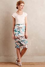 NWT Anthropologie The Addison Story Floral Cutout Pencil Skirt, sz Medium